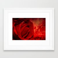 passion Framed Art Prints featuring Passion by Loredana