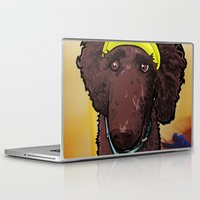 hobbes Laptop & iPad Skins featuring Hobbes (poodle) by BinaryGod.com