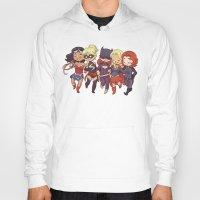 superheros Hoodies featuring Super BFFs by Dooomcat