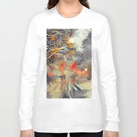 takmaj Long Sleeve T-shirts featuring WINTER IN THE CITY by takmaj