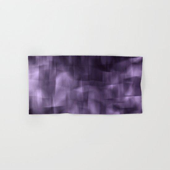 Purple abstract painting. Hand & Bath Towel