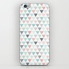 Geometric pastel triangle scandinavian style aztec print iPhone & iPod Skin