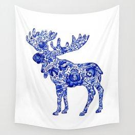 Gzhel Moose Wall Tapestry