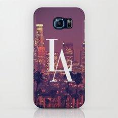 Downtown LA Vintage Skyline Typography Galaxy S7 Slim Case