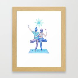 Yogi Love cold colours Framed Art Print