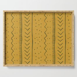 Moroccan Stripe in Mustard Yellow Serving Tray
