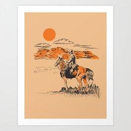 Old Western Cowboy Art Print