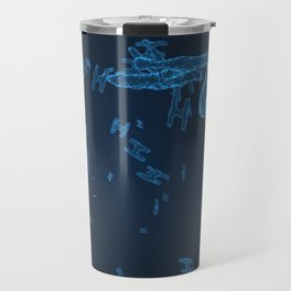 Abstract blue virus cells Travel Mug