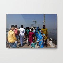 Mumbai Crowds - Haji Ali Mosque - 21 Metal Print