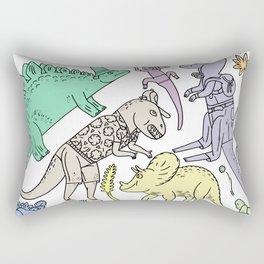 dinosaur friends Rectangular Pillow