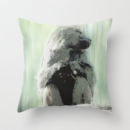 Baboon Distractions Throw Pillow