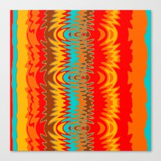 Groovy Red Canvas Print