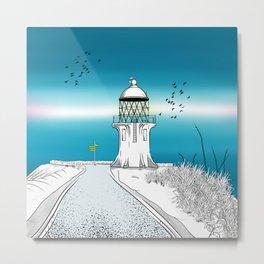 Cape Reinga Lighthouse Metal Print