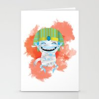 kiki Stationery Cards featuring King KiKi by Unknown Illustration