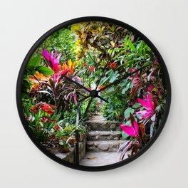 Dreamy Mexican Jungle Garden Wall Clock