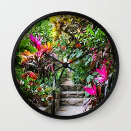Dreamy Mexican Jungle Garden Wall Clock
