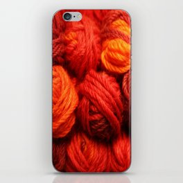 Many Balls of Wool in Shades of Red #society6 #decor #buyart iPhone Skin