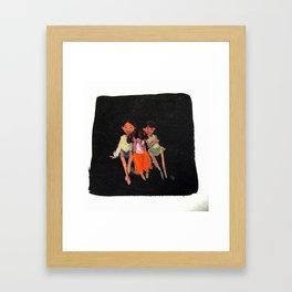 Siblings! Framed Art Print