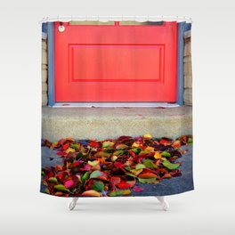 Leaves and Door Shower Curtain