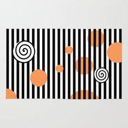 orange twist Rug