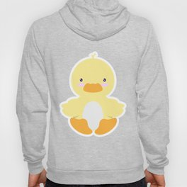 Little duck in pond Hoody