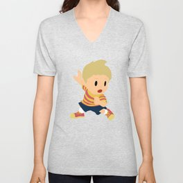 Lucas Super Smash Bros Unisex V-Neck
