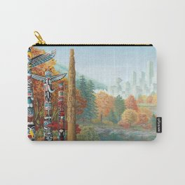 Vancouver Two Worlds Collide Landscape Painting Carry-All Pouch