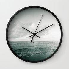 calm day 06 ver.greenblack Wall Clock