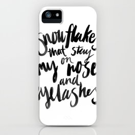 My Favourite Things - Snowflakes iPhone Case