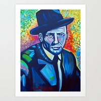 frank sinatra Art Prints featuring Frank Sinatra by camilletheriot