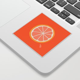 Grapefruit Slice Sticker