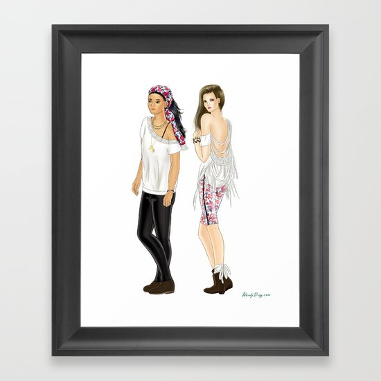 Fashion Journal: Day 28 Framed Art Print
