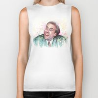 nicolas cage Biker Tanks featuring Nicolas Cage You Don't Say by Olechka