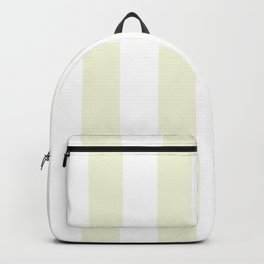 Vertical Stripes - White and Beige Backpack