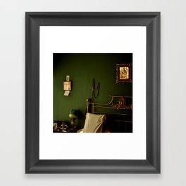 Green and Gold Bedroom Framed Art Print