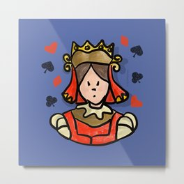 Card Queen Metal Print