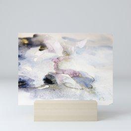 flower in the snow Mini Art Print