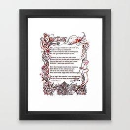 Sonnet 29 - Shakespeare Sonnet Art Framed Art Print