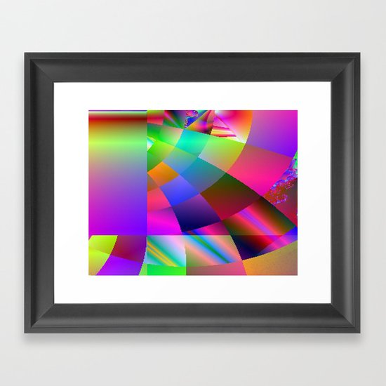 It's a Square World Framed Art Print