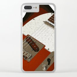 Electric Guitar Clear iPhone Case