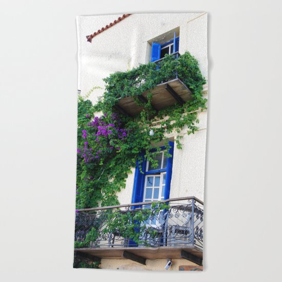 Chania Old Town View Beach Towel