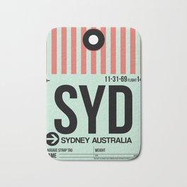 SYD Sydney Luggage Tag 1 Bath Mat