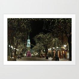 Church Street, Burlington Vermont Art Print