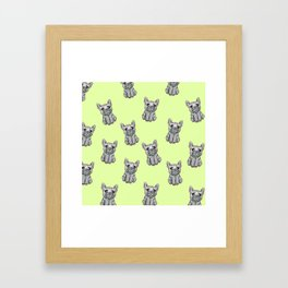 French Bulldog GREEN Framed Art Print