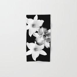 White Lilies on Black #1 #floral #decor #art #society6 Hand & Bath Towel