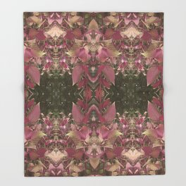 Red Shiso Warm Tones Pattern Throw Blanket