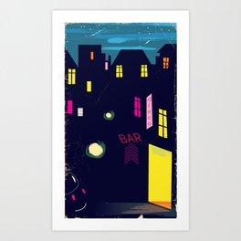 Paris Nightclub Art Print