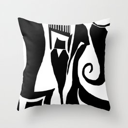 90 Abstract Print Artwork Throw Pillow