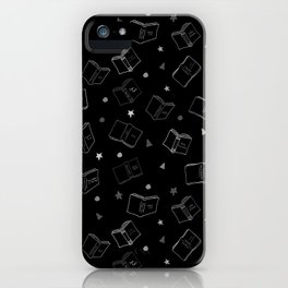 Classic Books Black and White iPhone Case