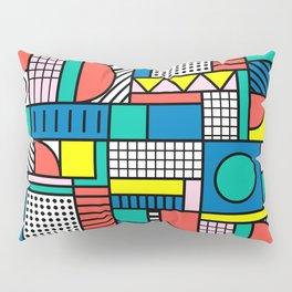 Memphis Color Block Pillow Sham